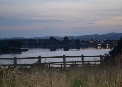 Hollingworth lake at night from the site